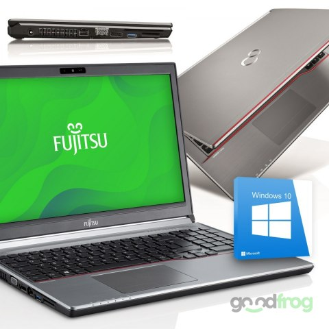 Fujitsu LifeBook E754 / 15-cali WLED / 8 GB RAM / SSD 256 GB / Windows 10/7