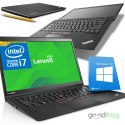 Lenovo ThinkPad X1 Carbon / 2W1 TouchScreen / 14-cali HD+ / Intel Core i7 / 8 GB / SSD / Windows 10