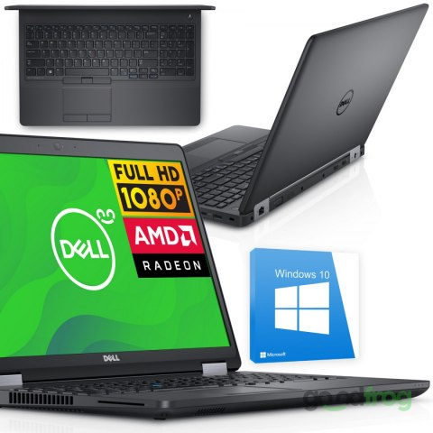 "Stacja robocza Dell Precision 3510 / 15,6"" Full HD / i5-6440HQ / AMD Radeon / RAM 16 GB / 256 GB SSD / Windows 10"